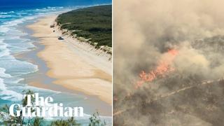 Fraser Island fire: massive blaze on World Heritage-listed site burns for six weeks