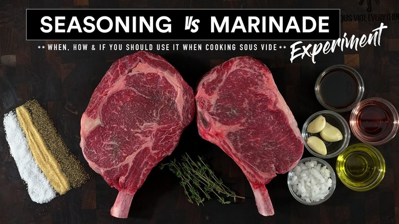 Steak MARINADE vs SEASONING Experiment Sous Vide Everything