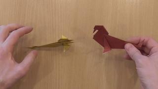 морж и моржиха из бумаги