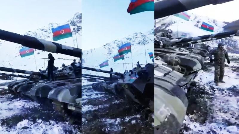 Kəlbəcərə yola düşən tanklarımız