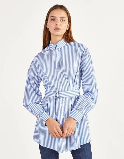 Рубашка из поплина с ремнем