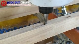 Máy làm mộng âm CNC 10 đầu (5x2) đánh mộng âm chân ghế tốc độ nhanh   Máy khoan lắc mộng siêu nhanh