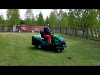 🍀 Осваиваю косилку на колёсах для газона. Славное.mp4