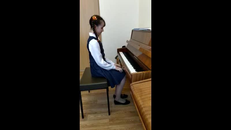 Сдаю академический зачёт по фортепиано