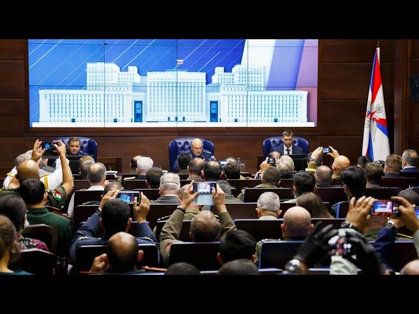 Брифинг главнокомандующего ВКС России Сергея Суровикина для иностранных военных атташе 11 09 2020