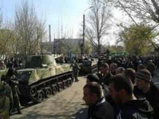 Краматорск  В город вошла бронетехника Украинских военных | Новости Новое Украина Россия Сегодня