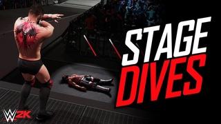 WWE 2K: Top 10 Most Crazy Stage Dives (OMG)