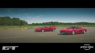 The Grand Tour: Ferrari Testarossa v Lamborghini Countach Drag Race