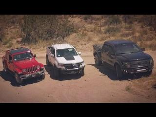 5 причин купить Вранглер вместо Раптора. Оффроад битва Wrangler 2018, F150 Raptor и Colorado ZR2.