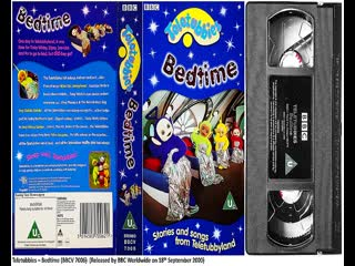 Teletubbies - Bedtime (BBCV 7006) and Hands, Feet and Dirty Knees (BBCV 7098) 2000 UK VHS