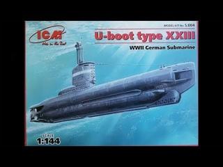 ICM U-Boot type XXIII WWII German submarine 1:144 unboxing