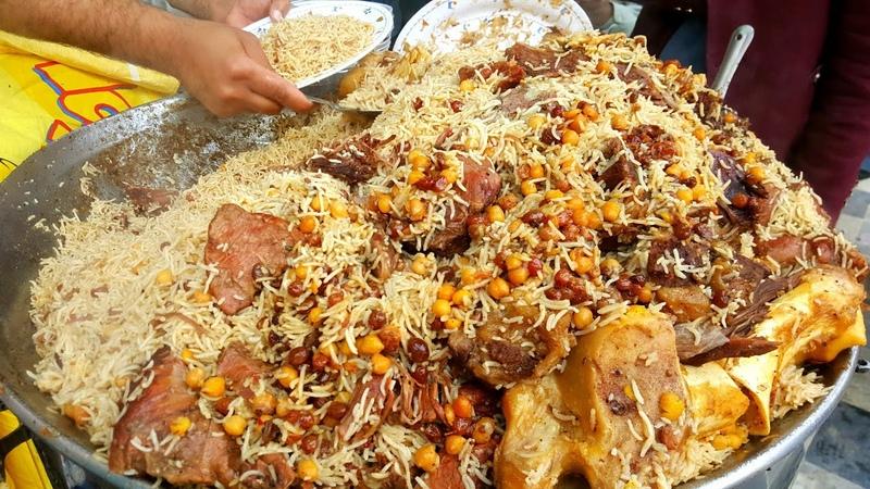 Zaiqa Chawal Qissa Khwani Bazar Walled City of Peshawar Peshawari Beef Pulao Zaiqa Beef Pulao