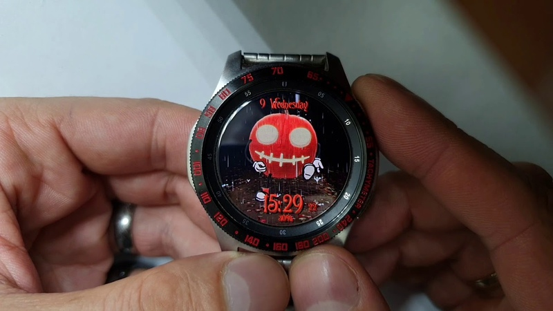 Halloween Animated WW41 watchface for Samsung Gear Samsung Galaxy watch