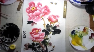 Learn how to paint Peony flowers