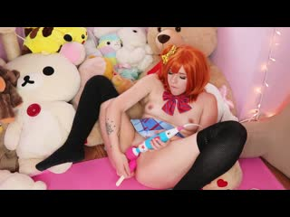 EllieMarie - Honoka Kousaka sex porno cosplay; solo; dildo; masturbation; anal; stockings; [Love Live]