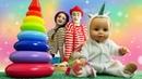 Кукла Беби Бон в видео для детей - Собираем пирамидку с Baby Born! – Игры для девочек онлайн.