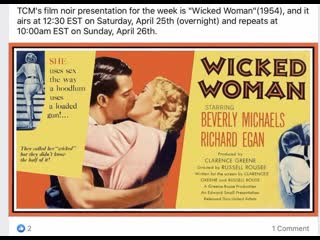 Wicked Woman (1953)  Beverly Michaels, Richard Egan, Percy Helton