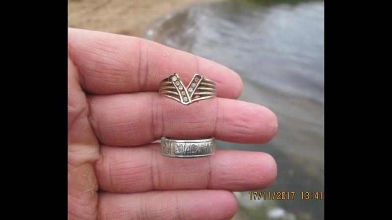 33 Поиск монет и ювелирных изделий на пляже озера Амазонка Мазонка с МД Garrett ACE400i