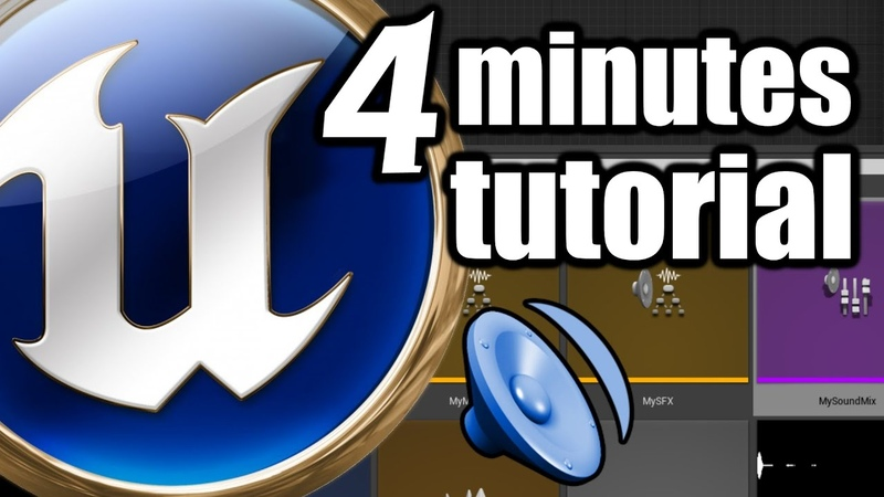 UE 4 Minutes TUTORIAL Sound Music Volume Level Change Control Settings with Sound Class