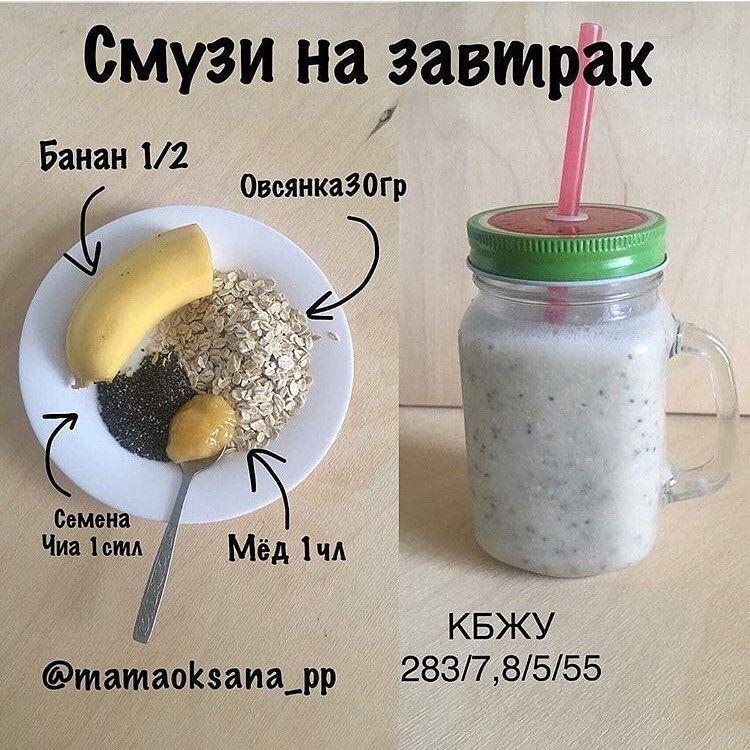 Смузи меню на 1350 калорий