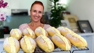 СЛАДКИЙ ХОТ ДОГ булочки с заварным кремом Красивые и нежные Люда Изи Кук выпечка sweet roll recipe