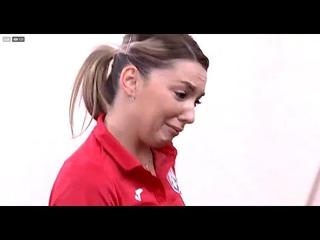 Bernadette Szocs won a dramatic match and started to cry! Romanian Superleague final