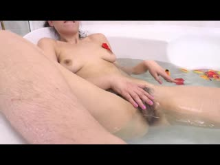 Russian tourist alina with plentiful hairy cunt