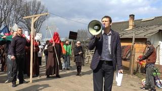 Narkotikams – Ne! Protesto akcija čigonų tabore. 2016 04 07