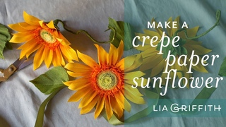 How to Make a Gorgeous Sunflower with Crepe Paper