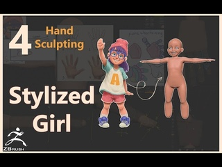004   Stylized Girl   Zbrush   Hand Sculpting