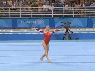 Elena Zamolodchikova - 2004 Olympics Team Finals - Floor