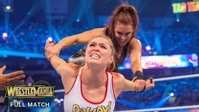[My1] Ronda Rousey Kurt Angle vs. Triple H Stephanie McMahon WrestleMania 34