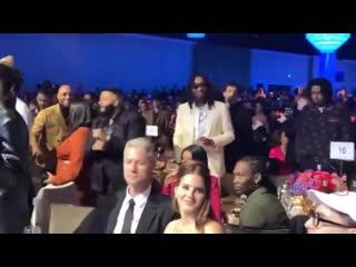 Лана Дель Рей и Шон Ларкин во время Clive Davis' Grammy Party