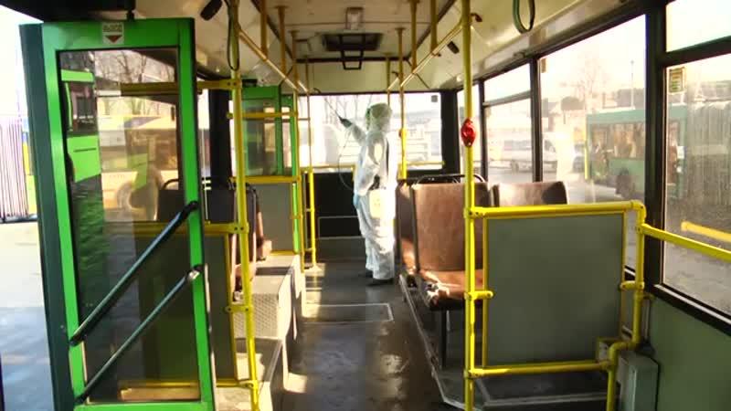 Салоны автобусов дезинфицируются несколько раз в день.mp4