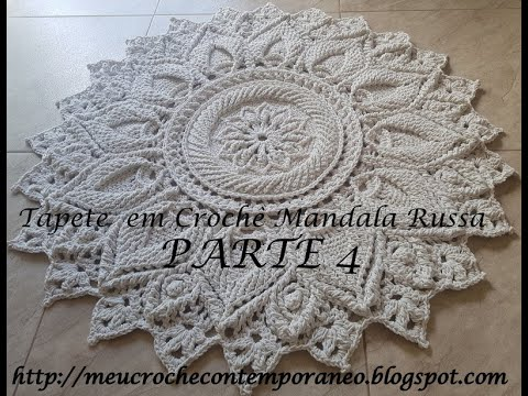 Tapete em Crochê Mandala Russa parte 4