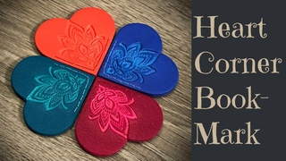 Polymer Clay Heart Corner Bookmark Created With Fimo Leather Effect Step By Step Tutorial