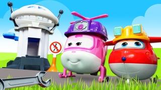 Игры для мальчиков - Видео с игрушками из мультика Супер крылья - Диспетчерская вышка