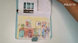 Бумажный дом. Бумажные куклы. Комнаты для бумажных кукол. Мультик. DIQ. PAPER DOLL.