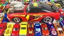 Машинки Хот Вилс Игрушки Большая Коробка Монстр Трак Мстители Много Машинок Мультики про Машинки