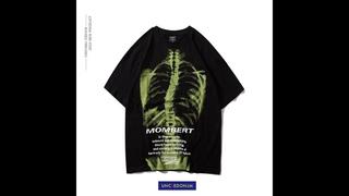 Uncledonjm скелет мужские футболки harajuku забавная мужская футболка с рисунком мужская хип хоп хлопковая уличная футболка
