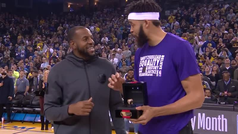 JaVale McGee Receives his 2018 NBA Championship Ring