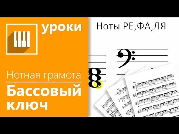 Нотная грамота за 15 минут - урок 45 Ноты басового ключа(НОВЫЙ)