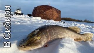 Зимняя рыбалка. Жерлицы на щуку. Зимняя палатка Гексагон
