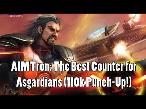 AIMTron The Best Counter for Asgardians 110k Punch Up in War Marvel Strike Force