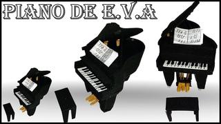 Piano: aprenda a fazer esse lindo mini piano com . no canal Arte Safira