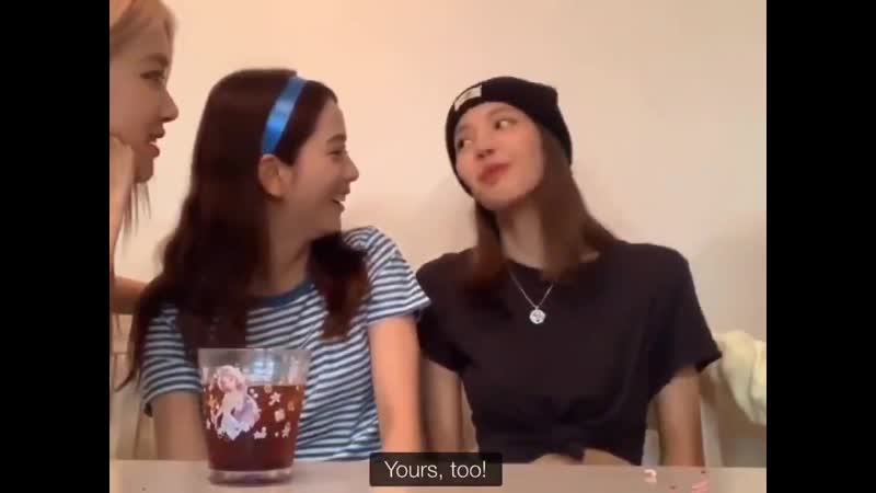 Lisoo roasting each other eyebrows is a whole mood