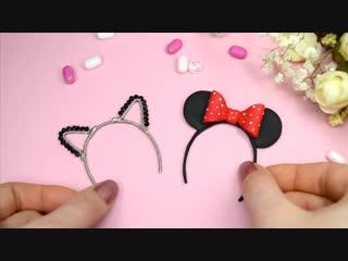 Miniature Hair Hoop with ears for dolls DIY Polymer clay Tutorial (fimo)  Irina Ivanitskaya