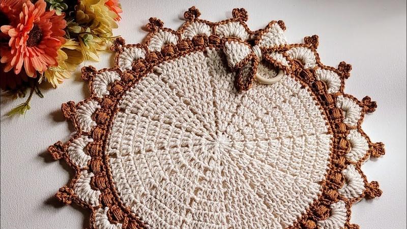 Americano Redondo em Croche modelo Realeza sousplat Silvana Machado
