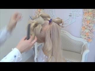 Свадебная вечерняя прическа. Прическа на длинные волосы.Обучающее видео
