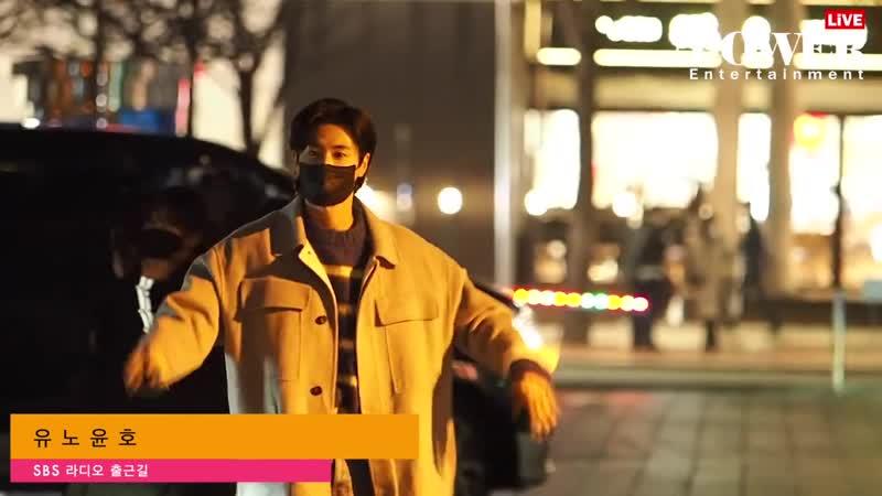 23 01 2021 Юнхо TVXQ по дороге на запись радио шоу SBS Lee Joon's Young Street